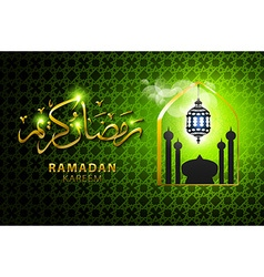 Religious green color eid background design with vector