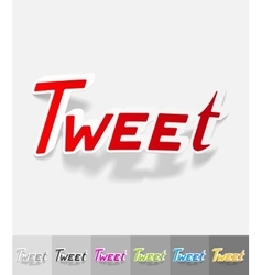 Realistic design element tweet vector