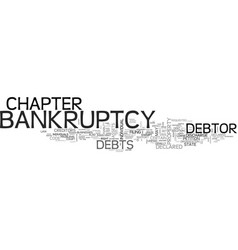 A guide to chapter bankruptcy text word cloud vector