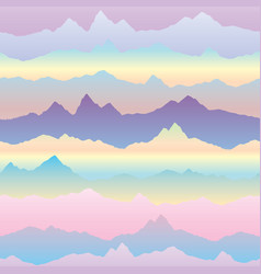 Abstract wavy mountain skyline background vector