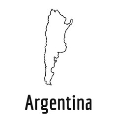 Argentina Map Icon Outline Style Royalty Free Vector Image - Argentina map outline
