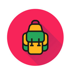 backpack icon on white background vector image