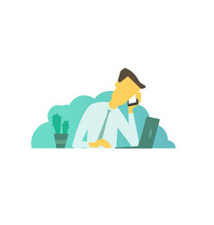 businessman calls on business talking on the vector image vector image