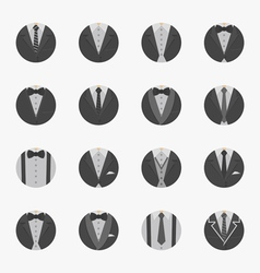 Businessman Suit Icons with White Background vector image vector image