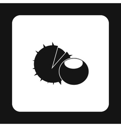 Chestnut icon simple style vector