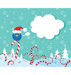 Christmass candy bird vector image