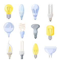 collection of different bulbs vector image