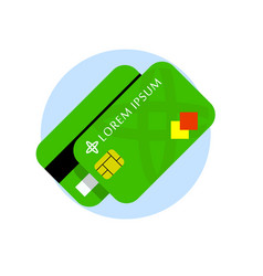 Credit card flat icon credit cards front vector