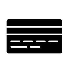 credit card silhouette icon minimal pictogram vector image vector image
