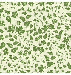 Eco seamless pattern with green leaves vector