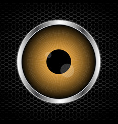 Eye with abstract metal texture vector