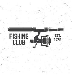 Fishing sport club vector