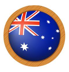 Flag icon design for australia vector