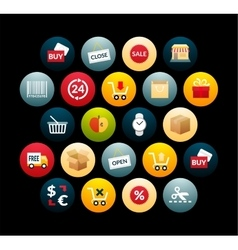 Flat icons set 20 vector