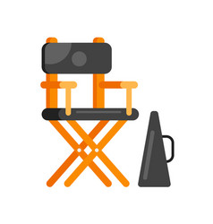 Flat style movie directors chair vector