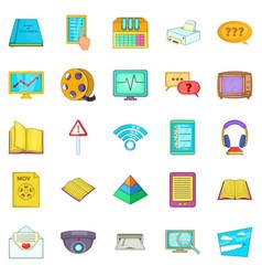Gen icons set cartoon style vector