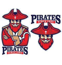 Half body pirate mascot vector