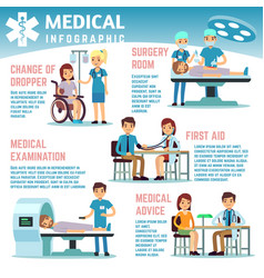 healthcare infographics with medical staff vector image