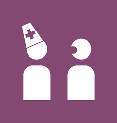 Icon doctor and patient vector