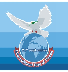International day of peace white dove vector