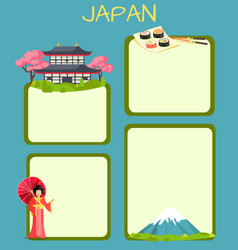 Japan touristic concept with copyspace vector
