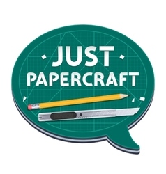 Just Papercraft Poster vector image