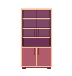 Light wooden closet vector