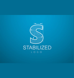 logo template letter s in the style of a vector image vector image