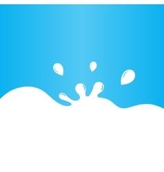 Milk splash background vector image vector image