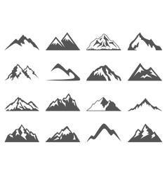 Mountain Shapes For Logos vector image vector image