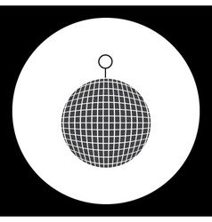 Music disco ball black simple isolated icon eps10 vector