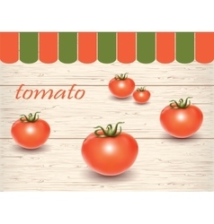 Red fresh tomatoes on the table vector