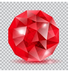 Red translucent crystal vector