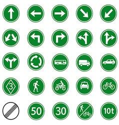 regulatory sign green vector image vector image