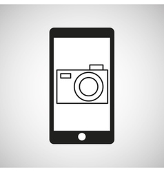 smartphone e-commerce camera photo graphic vector image