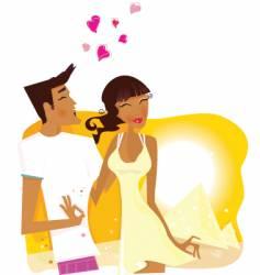 summer honeymoon in egypt vector image vector image