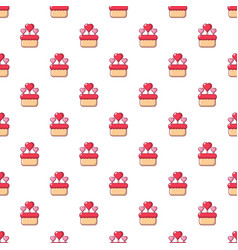 Wedding cake pattern seamless vector