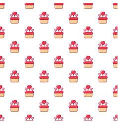 wedding cake pattern seamless vector image