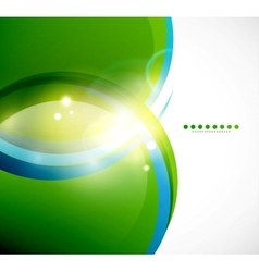 Detailed green wavy abstract background vector image