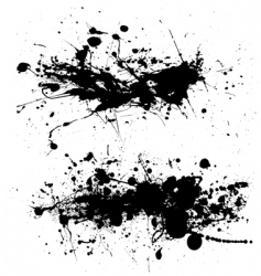 Splat dribble grunge vector