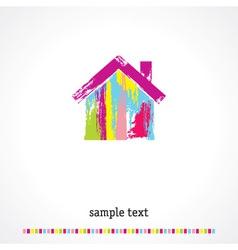 Multicolored home vector image