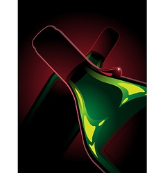 two bottles of red wine vector image