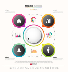 Infographics design template with icons set vector