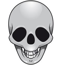 gray skull vector image