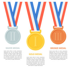 Medals set on white background vector
