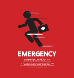 Emergency concept vector