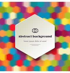 Colorful polygonal background vector