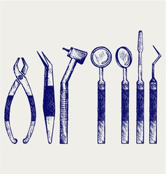 Set of medical tools vector image