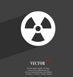 Radiation icon symbol flat modern web design with vector