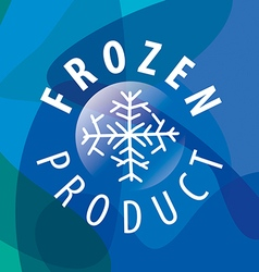 Round logo for frozen products vector